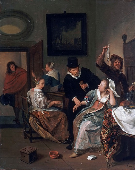 Jan Steen, Dutch (active Leiden, Haarlem, and The Hague), 1625/26-1679 -- The Doctor's Visit. Philadelphia Museum of Art