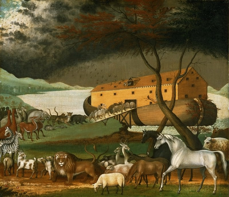 Edward Hicks, American, 1780-1849 -- Noah's Ark. Philadelphia Museum of Art