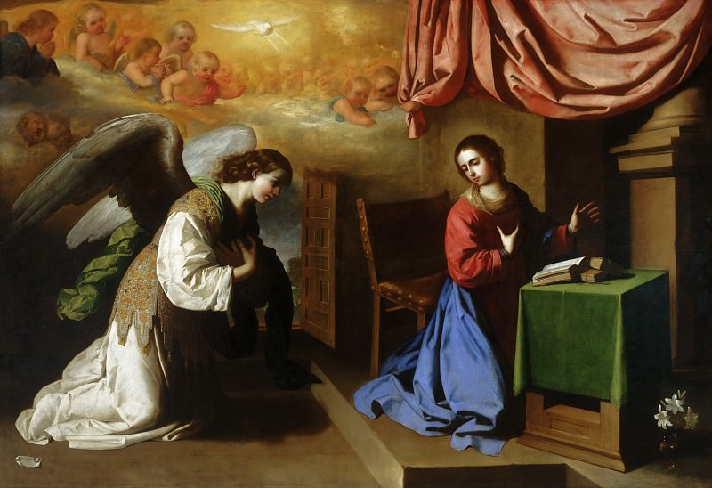 Francisco de Zurbarán, Spanish, 1598-1664 -- The Annunciation. Philadelphia Museum of Art
