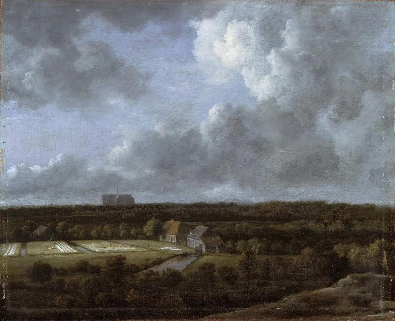 Рейсдаль, Якоб Исакс ван (1628/29 Харлем - 1682 Амстердам) -- Беление холстов на полях блих Харлема. Музей искусств Филадельфии