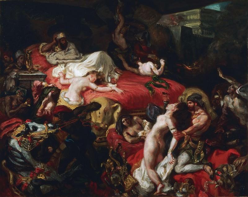 Ferdinand-Victor-Eugène Delacroix, French, 1798-1863 -- The Death of Sardanapalus. Philadelphia Museum of Art