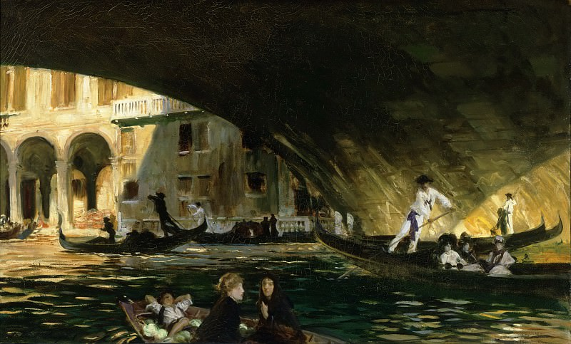 John Singer Sargent, American (active London, Florence, and Paris), 1856-1925 -- The Rialto, Venice. Philadelphia Museum of Art