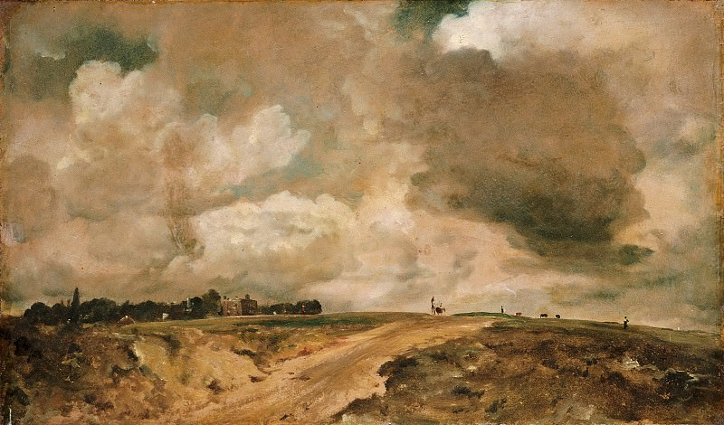 John Constable, English, 1776-1837 -- Road to the Spaniards, Hampstead. Philadelphia Museum of Art