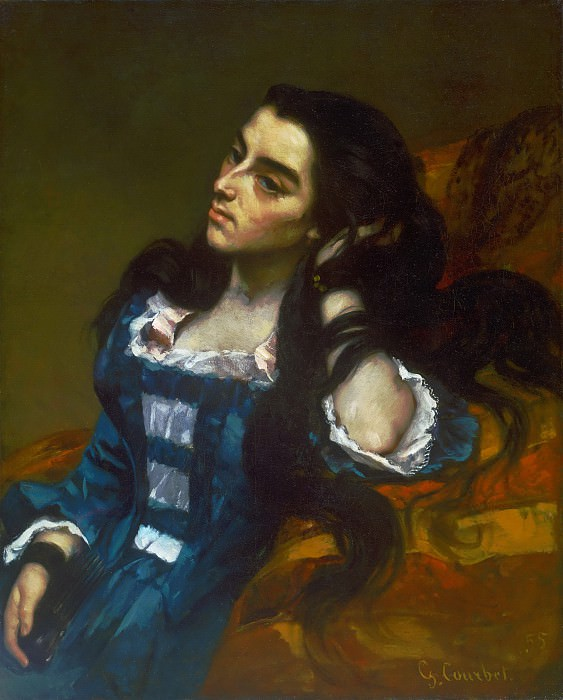 Gustave Courbet, French, 1819-1877 -- Spanish Woman. Philadelphia Museum of Art