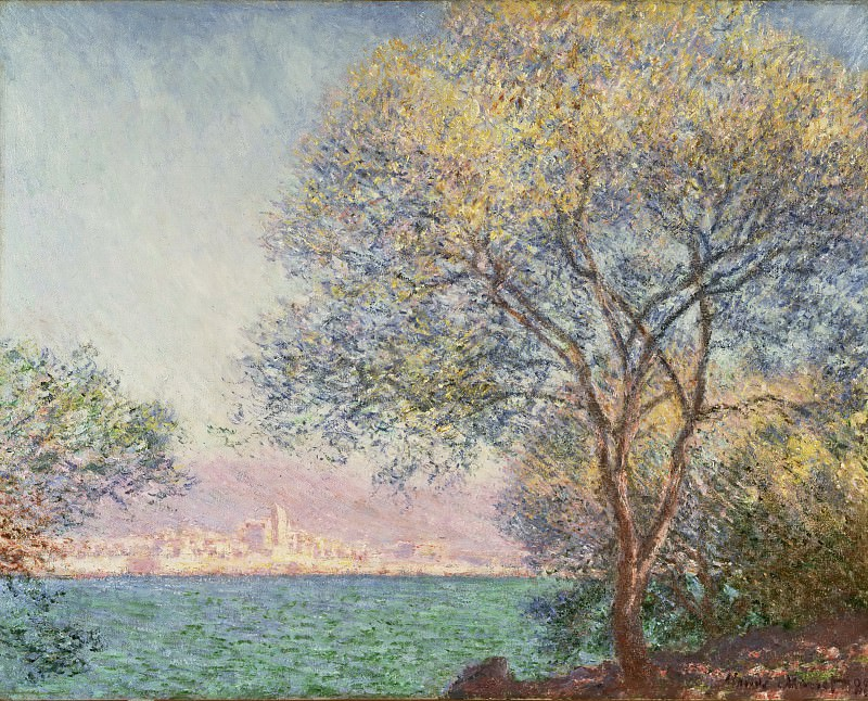 Моне, Клод-Оскар (1840 Париж - 1926 Живерни) - Утро на Антибе. Музей искусств Филадельфии