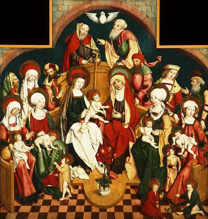 Artist/maker unknown, German, active Swabia -- The Holy Kinship. Philadelphia Museum of Art