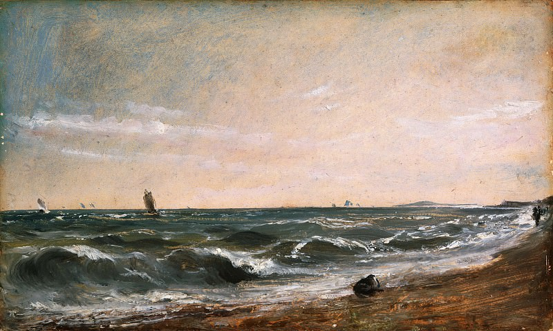 John Constable, English, 1776-1837 -- Coast Scene, Brighton. Philadelphia Museum of Art