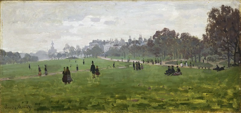 Моне, Клод-Оскар (1840 Париж - 1926 Живерни) - Зеленый парк, Лондон. Музей искусств Филадельфии