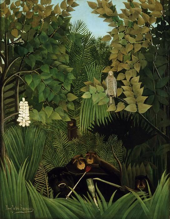 Руссо, Анри (1844 Лаваль - 1910 Париж) -- Шутники. Музей искусств Филадельфии