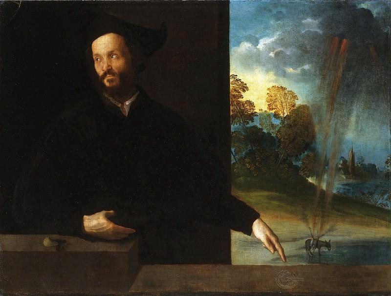 Доссо Досси (Джованни ди Никколо Лутери) (1474 Сан-Джованни-дель-Доссо - 1542 Феррара) - Портрет дворянина. Музей искусств Филадельфии