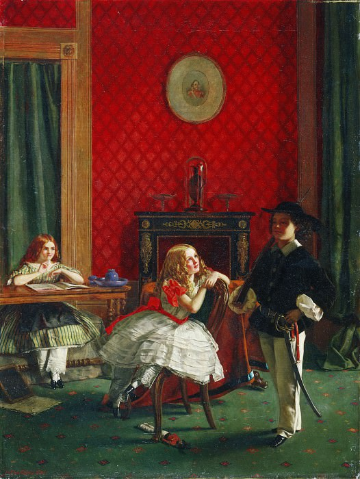 """Игли, Уильям Мо (1826-1916) -- """"Коготок увяз..."""" (""""... - всей птичке пропасть"""", пословица). Музей искусств Филадельфии"""