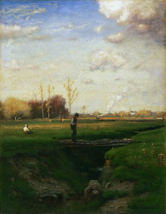 George Inness, American, 1825-1894 -- Short Cut, Watchung Station, New Jersey. Philadelphia Museum of Art