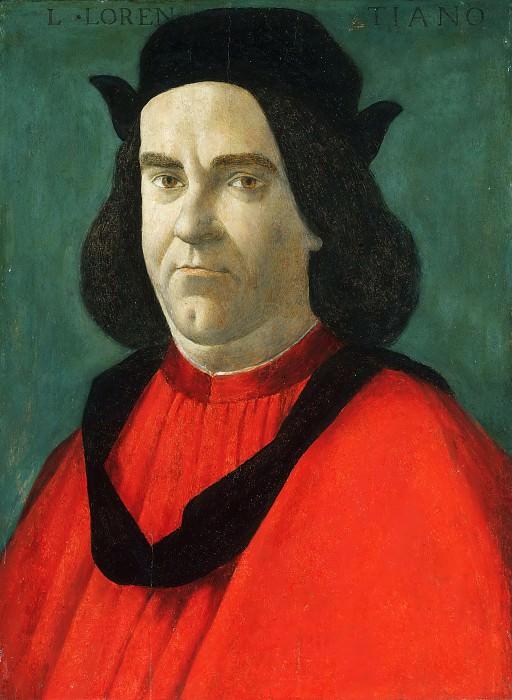 Portrait of Lorenzo de Lorenzi. Alessandro Botticelli