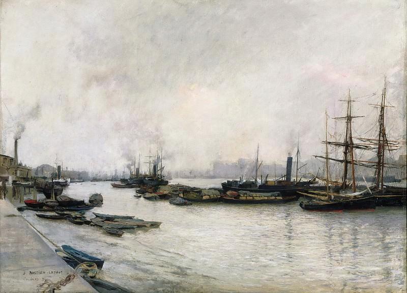 Jules Bastien-Lepage, French, 1848-1884 -- The Thames, London. Philadelphia Museum of Art