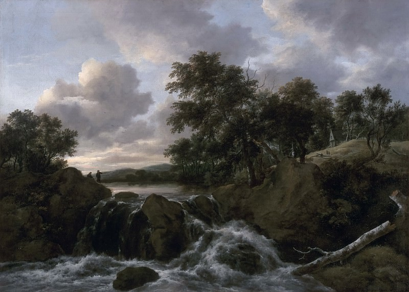 Jacob Isaacksz. van Ruisdael, Dutch (active Haarlem and Amsterdam), 1628/29-1682 -- Landscape with a Waterfall. Philadelphia Museum of Art
