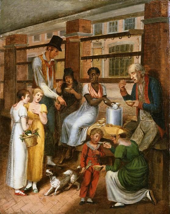 Криммел, Джон Льюис (1786-1821) - Тушеная требуха с клецками: Сценка на филадельфийском рынке. Музей искусств Филадельфии