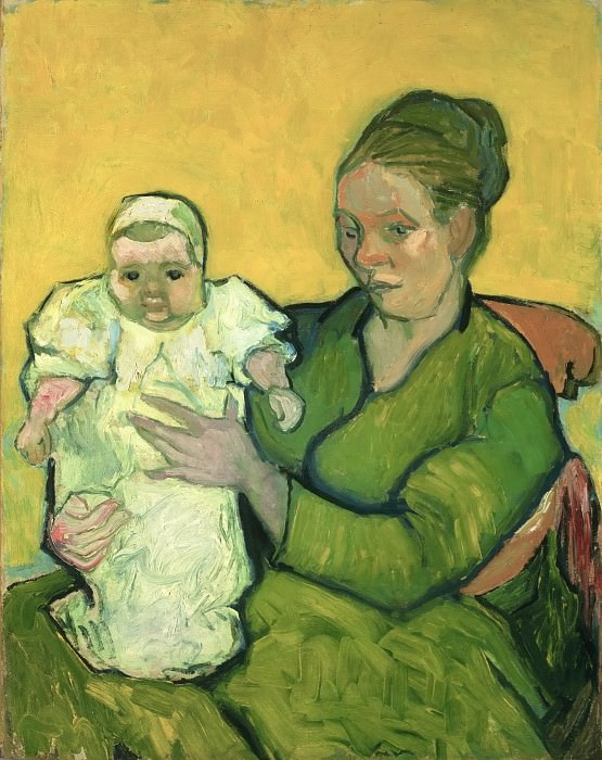 Vincent Willem van Gogh, Dutch, 1853-1890 -- Portrait of Madame Augustine Roulin and Baby Marcelle. Philadelphia Museum of Art