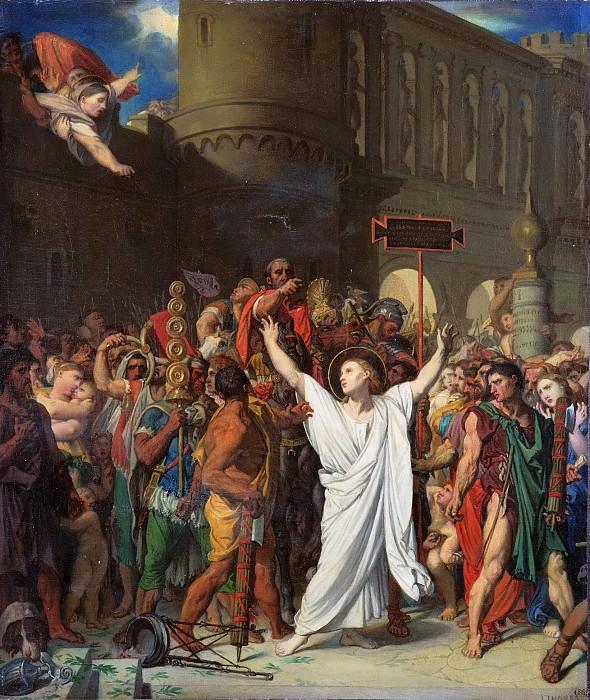 Jean-Auguste-Dominique Ingres, French, 1780-1867 -- The Martyrdom of Saint Symphorien. Philadelphia Museum of Art