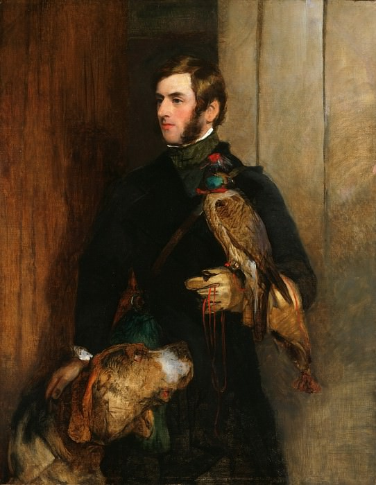 Sir Edwin Landseer, English, 1802-1873 -- The Falconer. Philadelphia Museum of Art (possibly a portrait of William Russell)