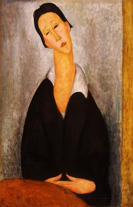 Amedeo Modigliani, Italian, 1884-1920 -- Portrait of a Polish Woman. Philadelphia Museum of Art