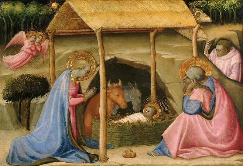 Paolo Schiavo (Paolo di Stefano Badaloni), Italian (active Florence and environs), 1397-1478 -- The Nativity. Philadelphia Museum of Art