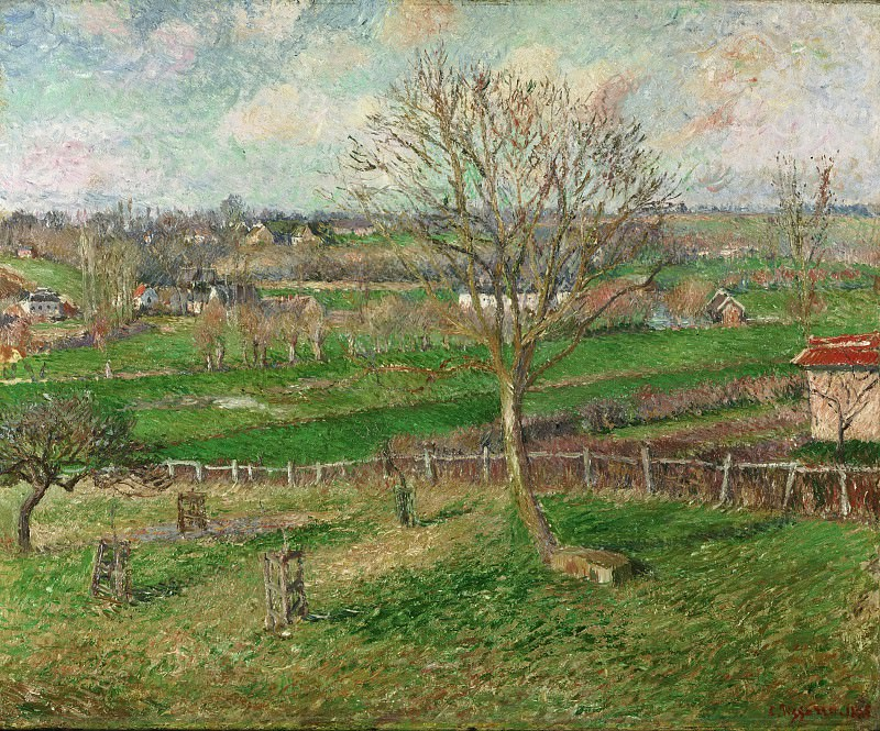 Camille Pissarro, French, 1830-1903 -- The Field and the Great Walnut Tree, Eragny. Philadelphia Museum of Art