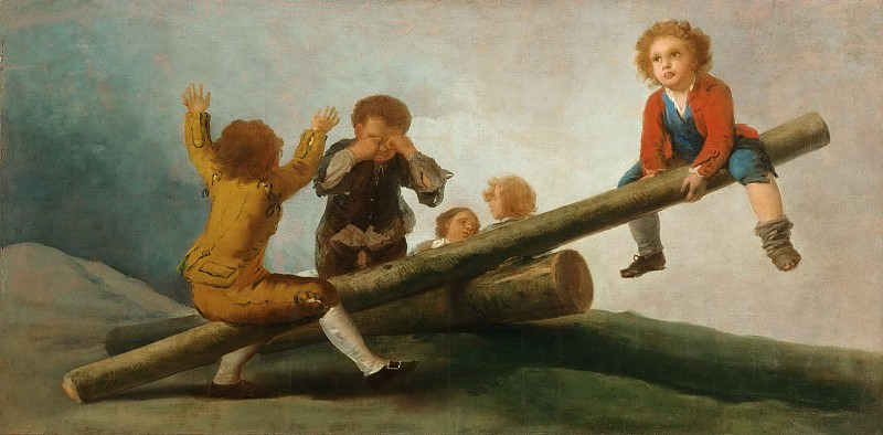 Francisco José de Goya y Lucientes, Spanish, 1746-1828 -- The Seesaw. Philadelphia Museum of Art