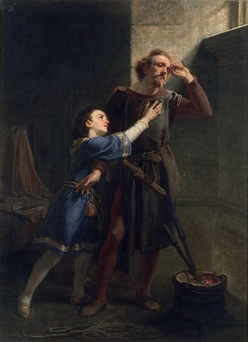 Шуссель, Христиан (1824-1879) -- Хуберт и Артур. Музей искусств Филадельфии
