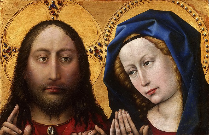 Robert Campin, also called the Master of Flémalle, Netherlandish (active Tournai), first documented 1406, died 1444 -- Christ and the Virgin. Philadelphia Museum of Art