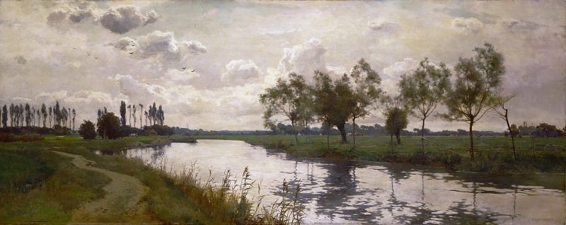 Alfred Parsons, English, 1847-1920 -- River and Towpath. Philadelphia Museum of Art