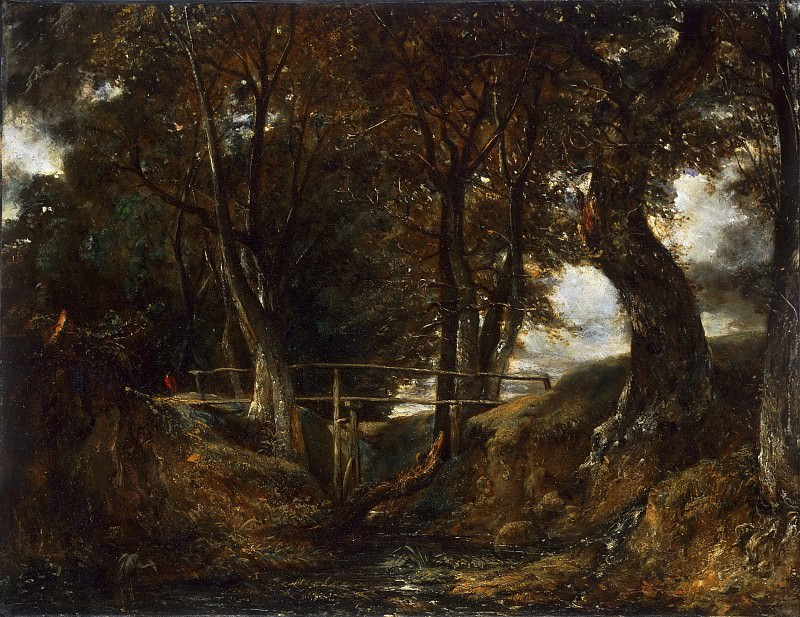 John Constable, English, 1776-1837 -- Dell at Helmingham Park. Philadelphia Museum of Art