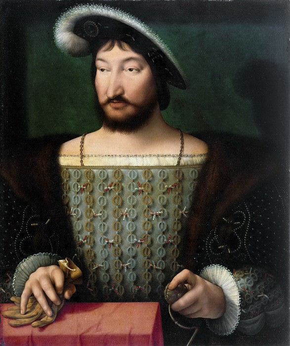 Joos van Cleve, Netherlandish (active Antwerp and France), first documented 1511, died 1540/41 -- Portrait of Francis I, King of France. Philadelphia Museum of Art
