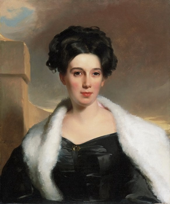 Thomas Sully, American (born England), 1783-1872 -- Portrait of Mary Anne Heide Norris. Philadelphia Museum of Art