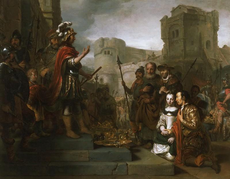 Gerbrand van den Eeckhout, Dutch (active Amsterdam), 1621-1674 -- The Continence of Scipio. Philadelphia Museum of Art