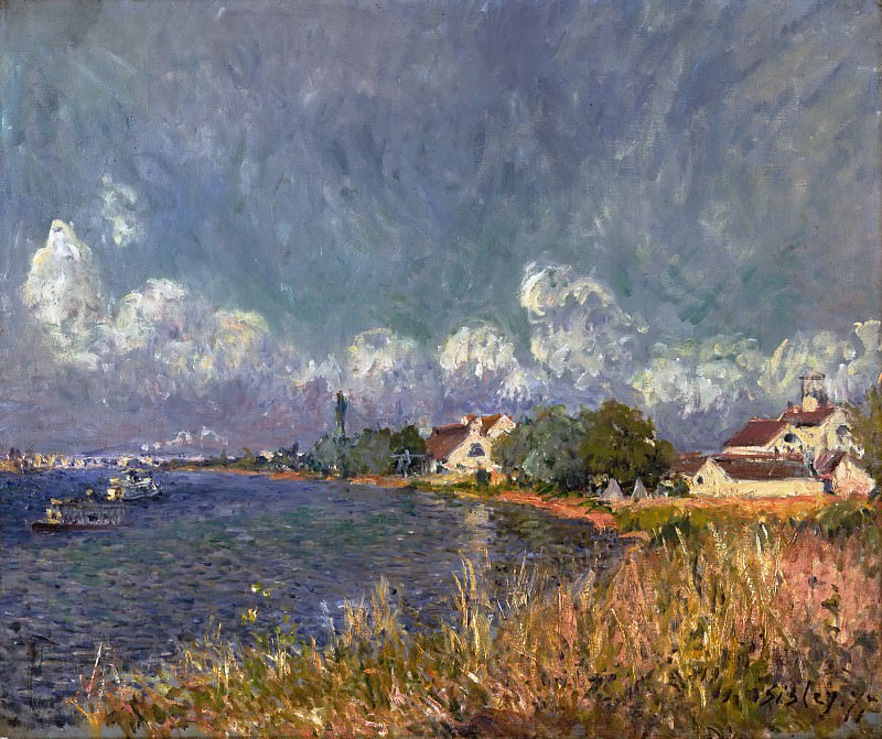 Alfred Sisley, French, 1839-1899 -- The Seine at Billancourt. Philadelphia Museum of Art