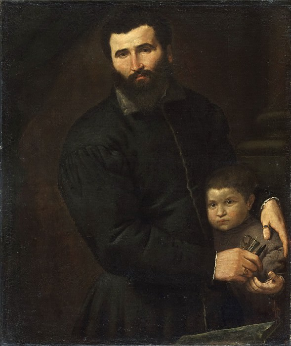 Lorenzo Lotto (Lorenzo di Tommaso Lotto), Italian (active Venice, northern Italy, and Marches), first documented 1503, died 1556 -- Portrait of Gian Giacomo Stuer and His Son Gian Antonio. Philadelphia Museum of Art