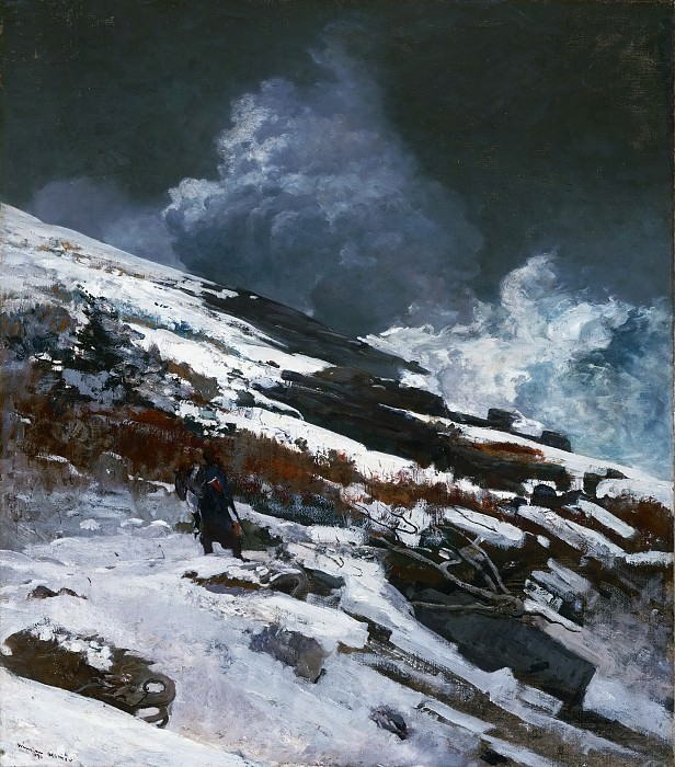 Winslow Homer, American, 1836-1910 -- Winter Coast. Philadelphia Museum of Art