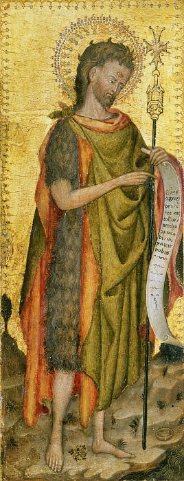 Antonio Orsini (Master of the Carminati Coronation), Italian (active Ferrara), documented 1432-1491 -- Saint John the Baptist. Philadelphia Museum of Art