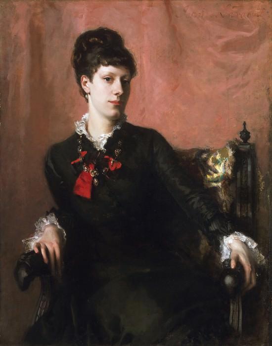 John Singer Sargent, American (active London, Florence, and Paris), 1856-1925 -- Portrait of Frances Sherborne Ridley Watts. Philadelphia Museum of Art