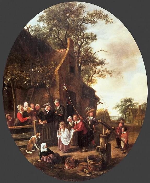 Jan Steen, Dutch (active Leiden, Haarlem, and The Hague), 1625/26-1679 -- The May Queen. Philadelphia Museum of Art
