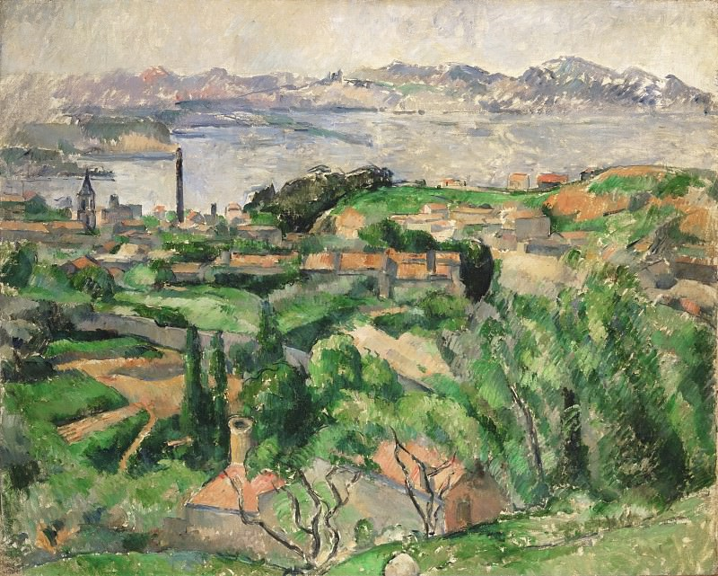 Paul Cézanne, French, 1839-1906 -- View of the Bay of Marseille with the Village of Saint-Henri. Philadelphia Museum of Art
