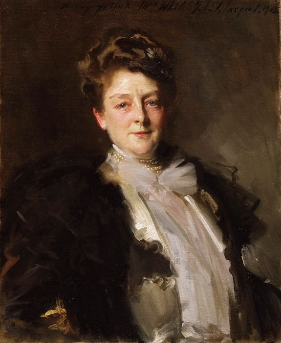 John Singer Sargent, American (active London, Florence, and Paris), 1856-1925 -- Portrait of Mrs. J. William White. Philadelphia Museum of Art