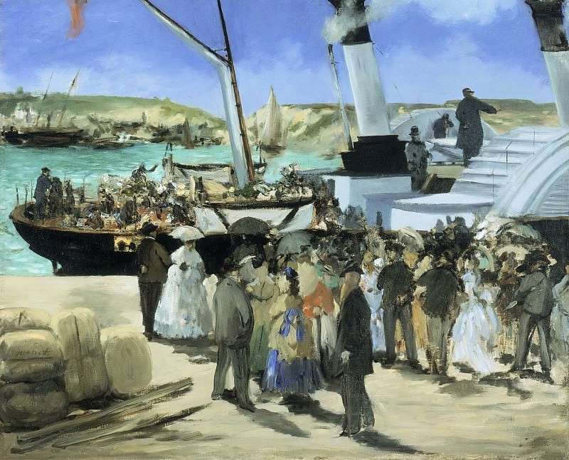 Édouard Manet, French, 1832-1883 -- The Folkestone Boat, Boulogne. Philadelphia Museum of Art