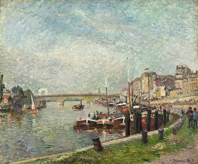 Camille Pissarro, French, 1830-1903 -- Quai Napoléon, Rouen. Philadelphia Museum of Art