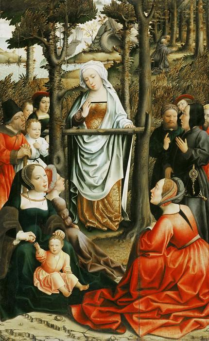 Master of the Magdalene Legend, Netherlandish (active Brussels), active c. 1480-c. 1520 -- Saint Mary Magdalene Preaching. Philadelphia Museum of Art