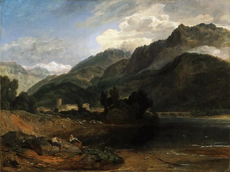 Тёрнер, Джозеф Мэллорд Уильям (1775 Лондон - 1851 Челси) -- Боннвиль, Савойя. Музей искусств Филадельфии