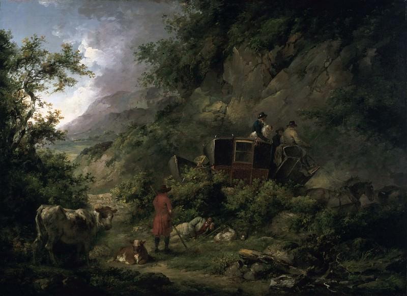 George Morland, English, 1763-1804 -- The Stagecoach. Philadelphia Museum of Art