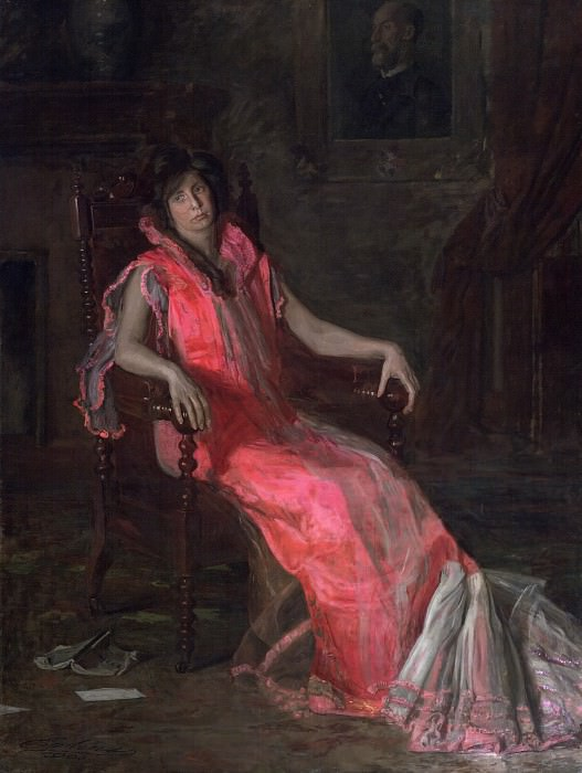 Thomas Eakins, American, 1844-1916 -- An Actress (Portrait of Suzanne Santje). Philadelphia Museum of Art