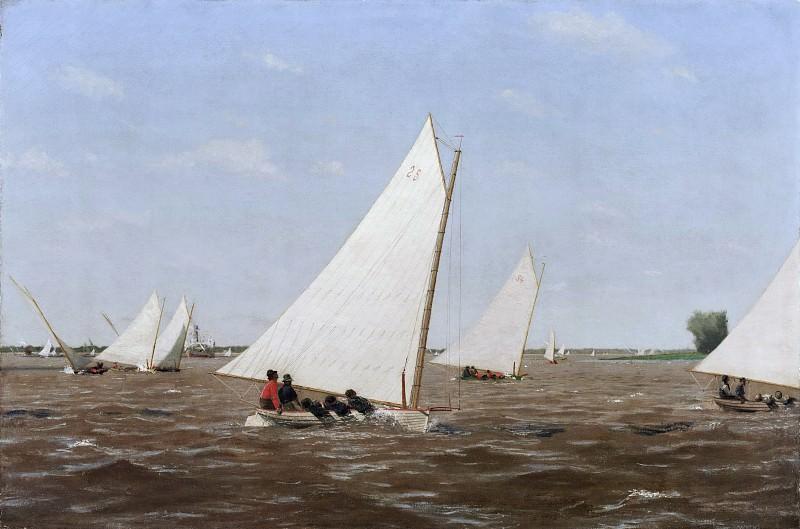 Икинс, Томас (Филадельфия 1844-1916) - Гонки на парусных шлюпках в шт. Делавэр. Музей искусств Филадельфии
