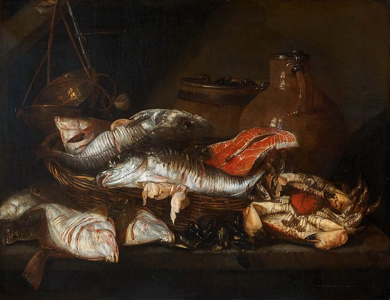 Abraham van Beyeren, 1620/21-1690 -- Still Life with Fish. Philadelphia Museum of Art